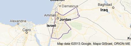 Jordan River Middle East Map.About Jordan